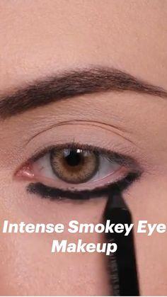 Smokey Eye Makeup, Eye Makeup Steps, Eye Makeup Art, No Eyeliner Makeup, Cute Makeup, Skin Makeup, Makeup Inspo, Makeup Inspiration, Makeup Tips