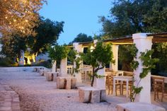Anticlama, Pezze di Greco  Outdoor dining at the argriturismo, resort & restaurant  Puglia, Italy >> Best Italian Restaurants