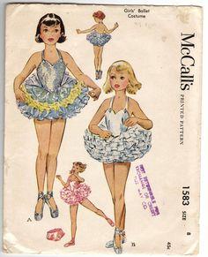McCall 1583 Girls Ballerina Ballet Costume by mbchills Ballerina Costume, Ballet Tutu, Ballet Costumes, Tutu Costumes, Barbie Costume, Cosplay Costumes, Ballet Dance, Sewing Patterns Girls, Vintage Patterns