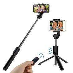Selfie Stick Stativ Bluetooth, Gopro, Small Luggage, Support Telephone, Thing 1, Selfie, Iphone, Samsung, Aluminium