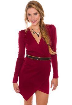 Valentina Dress - Burgundy