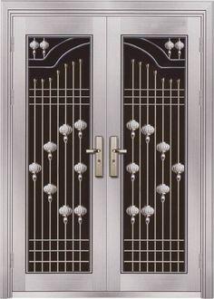 metal door Knobs And Knockers, Door Knobs, Door Handles, Door Grill, Entry Foyer, Steel Doors, Entrance Doors, Locker Storage, Security Doors