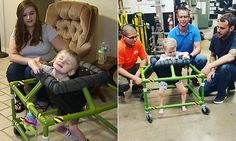 Home Depot workers make two-year-old blind boy a new walking frame