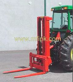 Tractor with Forklift Attachment
