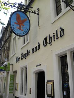 The Eagle and Child in Oxford, England. The pub where J.R.R. Tolkein and C.S. Lewis met together as part of the literary club called The Inklings to discuss and share their work.