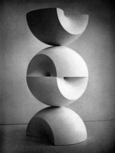 by Max Bill, Construction from Two Rings, 1965 19w