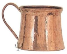 Turkish Copper Bucket with Copper Handle (Large)