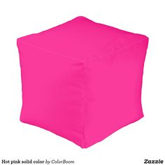 Hot pink solid color pouf Decorative Cushions, Small Pillows, Outdoor Gifts, Pink Cushions, Summer Gifts, Home Gifts, Hot Pink, Diys, Art Diy