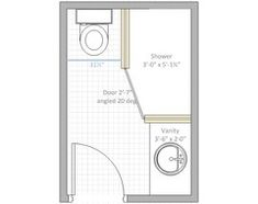 4 X 6 Bathroom Layout
