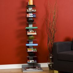 Amazon.com - SEI Metal Spine-Style Book Tower - Bookcases