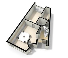 Nice small home office. Home's upstairs by Floor planner