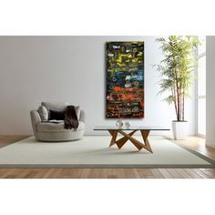 Original Wall Art Abstract painting on canvas  $358