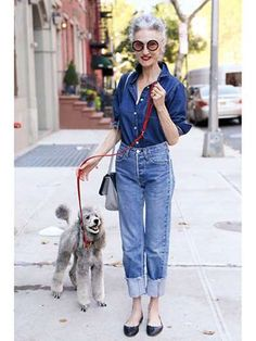 Linda Rodin in New York CityLinda Rodin rarely strays from her signature look: red lips, pulled-back... - Ari Seth Cohen
