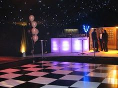 Chequered Black & White Dance Floor Hire