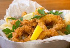 Anelli di calamari – frittura croccante senza glutine e senza uova