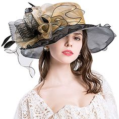 dd9ec885 Buy Women Foldable Organza Church Derby Hat Ruffles Wide Brim - Gold-b -  and Many Other Latest Designer Hats & Scarves, Enjoy Free and Fast Delivery.