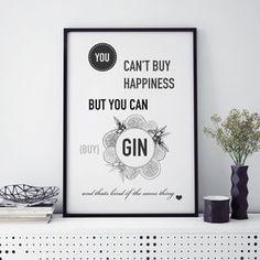 Gin Typographic Print