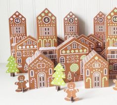 Printable Advent Calendar, Gingerbread House Advent Calendar Boxes, DIY Countdown to Christmas, Ging ✩ Check out this list of creative present ideas for beard loversGifts for men with beards [for pros and beginners] Cardboard Gingerbread House, Gingerbread Village, Christmas Gingerbread, Noel Christmas, Christmas Countdown, Christmas Calendar, Nordic Christmas, Modern Christmas, Christmas 2019