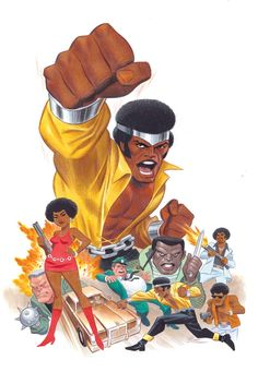 """variant cover by Bruce Timm """" Luke Cage by Bruce Timm Comic Book Artists, Comic Book Characters, Marvel Characters, Comic Artist, Comic Character, Comic Books Art, Marvel Comics, Hq Marvel, Marvel Heroes"""