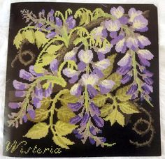 Elizabeth Bradley The Climbing Flowers Series The Wisteria Needlepoint Kit Stamped Canvas with Wool and Pattern https://www.etsy.com/ca/listing/180649810/elizabeth-bradley-the-climbing-flowers?ref=shop_home_feat_4