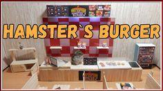 Hamster eating fast food. Hamsters burger.  Кафе Бургер для Хомяка