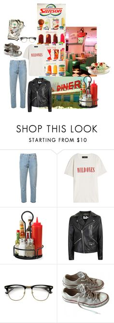 """50s vibes"" by sinister-kid ❤ liked on Polyvore featuring RE/DONE, AMIRI, Topman, Converse, men's fashion and menswear"