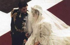 July 29, 1981:  Lady Diana Spencer marries Prince Charles at St. Paul's Cathedral in London.  Prince Charles & Lady Diana ...wonder what they said to each other.