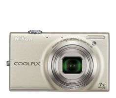 Nikon COOLPIX S6100 16 MP Digital Camera with 7x NIKKOR Wide-Angle Optical Zoom Lens and 3-Inch Touch-Panel LCD (Silver) by Nikon. $148.95. From the Manufacturer                 Brilliant images anywhere. Powerful Finally, a camera you can take everywhere you go. The COOLPIX S6100 is small enough to fit in a purse, pocket, or glove compartment—and powerful enough to capture landscapes, close ups, and portraits. This compact camera has a 16.0-megapixel CCD sensor th...
