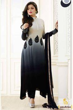 Gorgeous Combination Black & Cream Straight Suit                                                                                                                                                                                 More