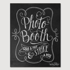 Photo Booth Sign Wedding Photo Booth Print Grab A by LilyandVal, $19.00