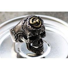 925 Sterling Silver Korean Taegeuk Skull Ring,skull jewelry,Biker Ring,Mens Ring,Goth ring,Rocker ring,halloween ring,gothic jewelry by 925SilverPetrichor on Etsy https://www.etsy.com/listing/169199565/925-sterling-silver-korean-taegeuk-skull