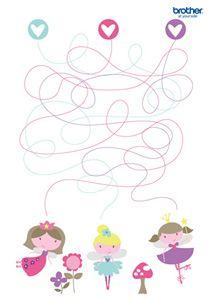 Fairy Princess Maze #free #printables for #backtoschool #DIY #classroom fun #kidsgames