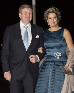 King Willem-Alexander of The Netherlands and Queen Maxima of The Netherlands attend a celebration of the reign of Princess Beatrix on February 1, 2014 in Rotterdam, Netherlands.
