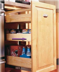 Most cabinet manufacturers now include roll-out shelves in their base cabinets. But if you don't have this convenience, this project will one-up those shelves.