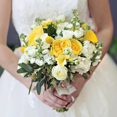 Yellow Bouquet // photo by: Arden Prucha Jenkins // Bridal Bouquet: Central Market