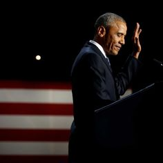 Barack Obama issues an emotional defence of his vision to Americans facing a moment of anxiety and a dramatic change in leadership.