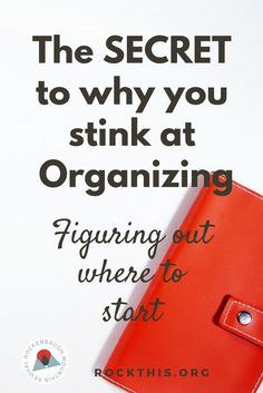 Wonder why you can never finish an organizing project?  You're looking at your space all wrong! Check out this post on how to get organized by choosing an appropriate space. This is a part of series on How to Get Organized for real. Learn an organizational system that you can start implementing today!