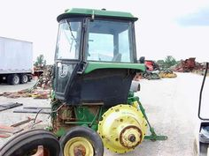 John Deere 4850 tractor salvaged for used parts. This unit is available at All States Ag Parts in Black Creek, WI. Call 877-530-2010 parts. Unit ID#: EQ-24444. The photo depicts the equipment in the condition it arrived at our salvage yard. Parts shown may or may not still be available. http://www.TractorPartsASAP.com