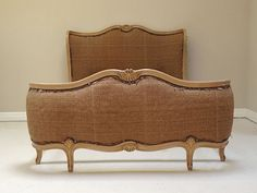 French style - reupholstery ready - vintage 1920s french full corbeille double bed / frenchfinds.co.uk