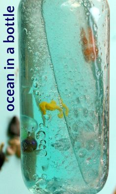 How to make an ocean in a bottle for calm kids.