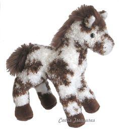 "Douglas Stoney BROWN WHITE APPALOOSA HORSE 9"" Plush Pony Stuffed Animal NEW #DouglasCuddleToy"
