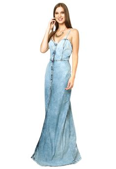 Vestido Jeans Lança Perfume Azul - Compre Agora | Dafiti Brasil