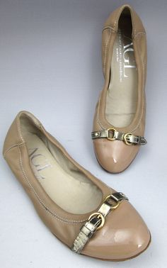 Attilo Giusti Leombruni AGL shoes nude nappa leather and patent Capulet flats 7 #AGL #Flats #Casual