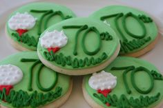 70th birthday favor cookies