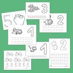 Fichas para trabajar los números del 1 al 5.a