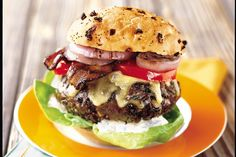 Jalapeño Cheeseburgers with Bacon and Grilled Onions / Photo by Brian Leatart