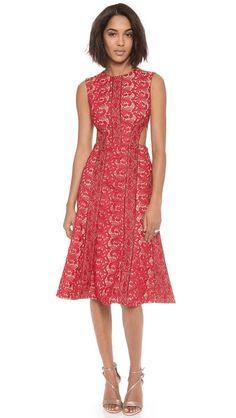 Self Portrait   Starlet Midi Dress #mididress #style #fashion #red #selfportrait