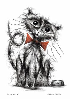 Fish face Print download Extra cute little kitty by KeithMills