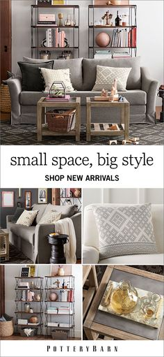 Size. Style Value. That's the mantra behind the SoMa collection from Pottery Barn. Designed specially for smaller spaces, this collection is designed to help you create a home that's organized, comfortable and true to you—no matter the square footage. Shop the collection today.