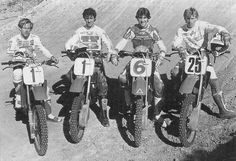 The Honda Dream Team.  Johnny O'Mara,David Bailey,Ron Lechien and Bob Hannah